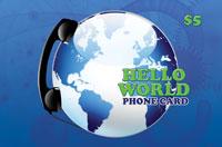 Hello World Phone Card $5