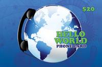 Hello World Phone Card $20
