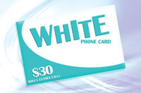 White Phone Card $30