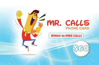 Mr Calls Phone Card $60