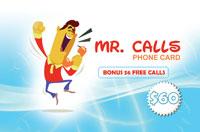 Mr Calls Phone Card $60